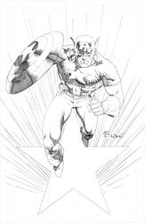 Captain America Commission by aethibert
