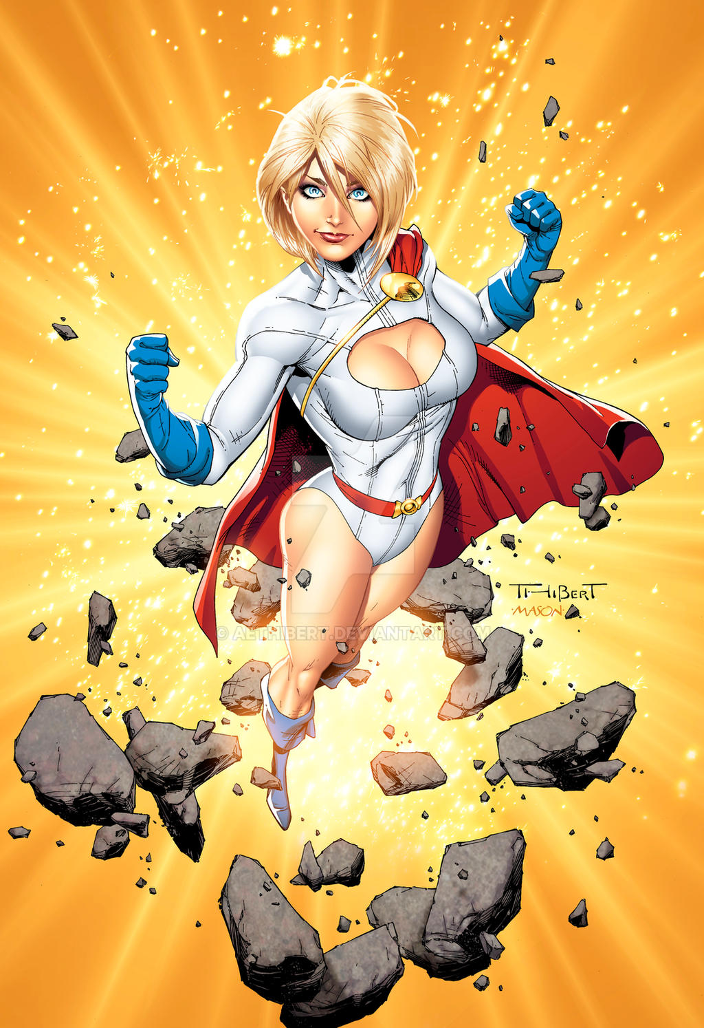 Power Girl Color Poster by aethibert