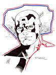 Captain America doodle - SDCC 2014