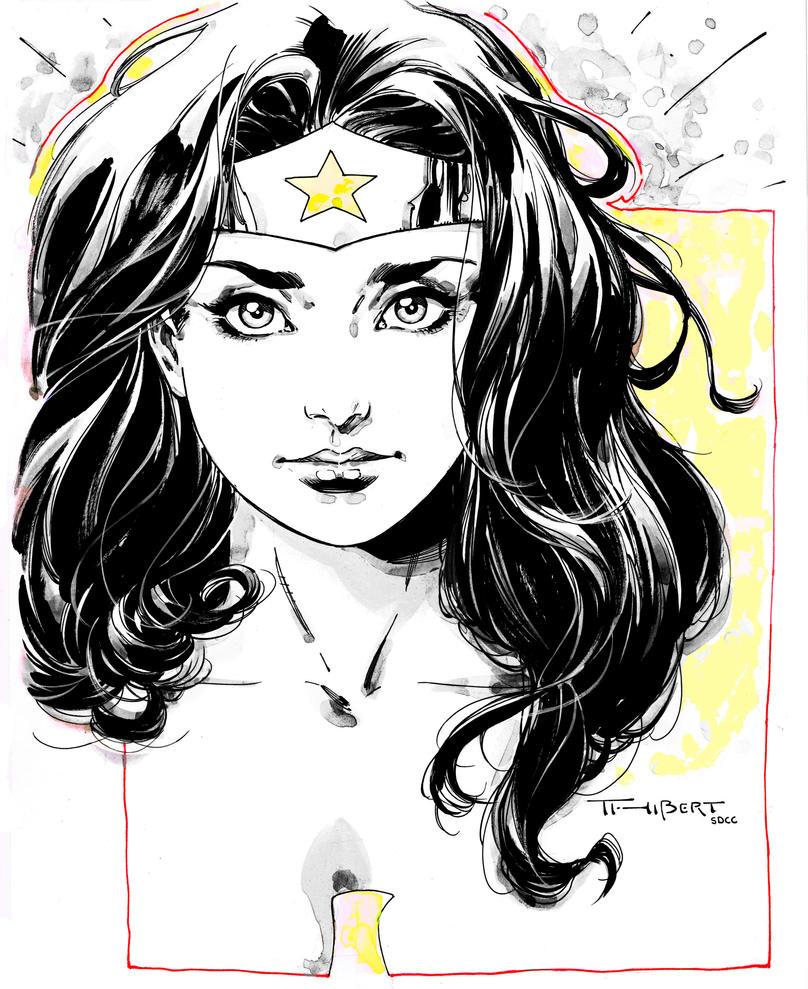 Wonder Woman doodle- SDCC 2014 by aethibert