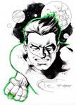 Green Lantern sketch - LBCC 2014