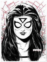 Spider-woman sketch LBCC
