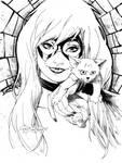 Black Cat Con-style sketch