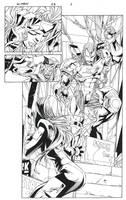 X-men # 65 Inks by aethibert