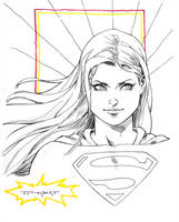 Supergirl doodle LBCC 2015 by aethibert