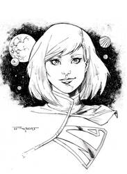 SuperGirl Con style drawing by aethibert