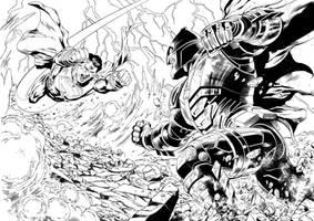 Batman V Superman # 1  page 16,17 by aethibert