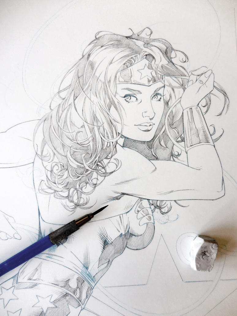 More Wonder Woman WIP. Enjoy! by aethibert