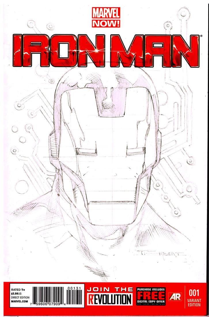 WIP Ironman sketch cover by aethibert