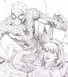 WIp - Spiderman, Spider Gwen commission
