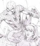 WIp - Spiderman, Spider Gwen commission