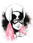Batgirl  with red hair - pre Con doodle!