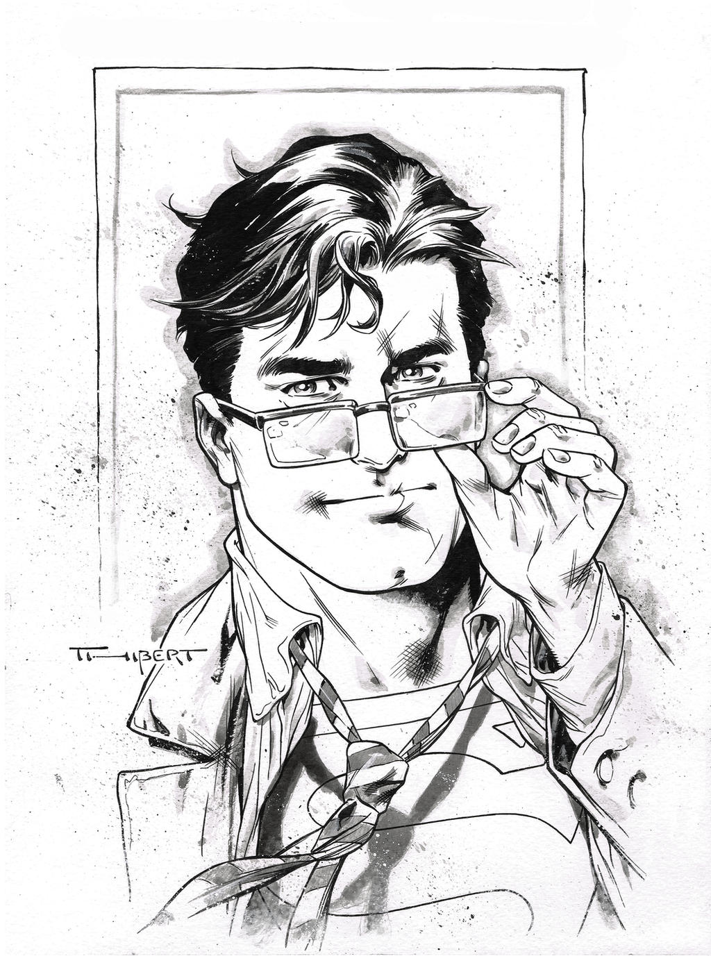 It's just an image of Current Clark Kent Drawing