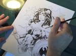 WIP   Wonder Woman commission