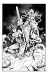 Supergirl Wonderwoman  commission