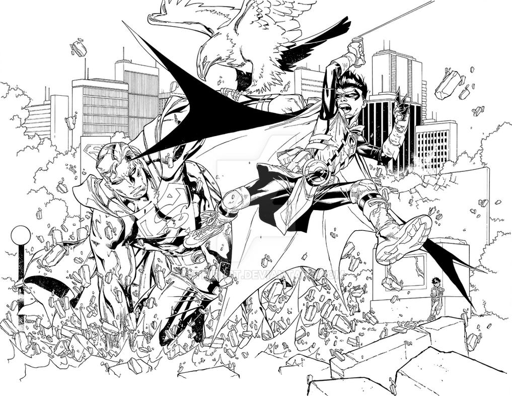 Adventures of Super Sons #1 Page 2 and 3 by aethibert