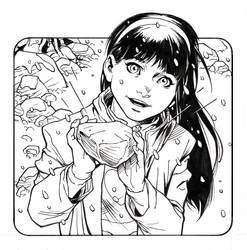 A young Whitney Sung from Black and White by aethibert