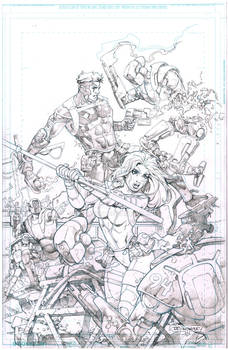 Black and White Vol 1 2nd chance print PENCILS