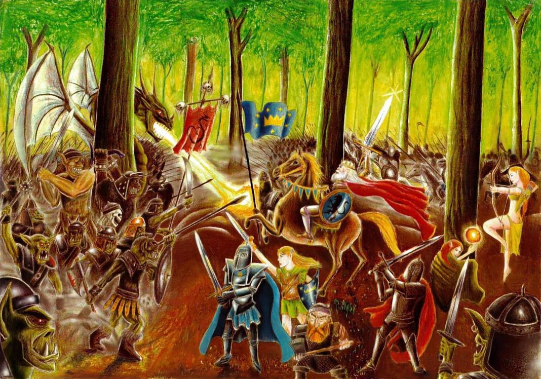 Epic Fantasy Battle by elven21