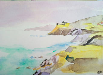 Speed Watercolor's landscape by misselo83