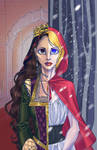 La Loca/Red Winter Poster Commission by PoweredByCokeZero