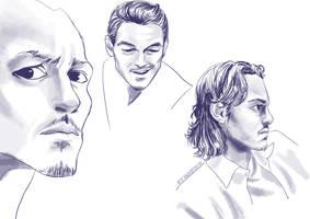 Luke Evans Sketches