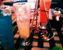 raindow of drinks by miserychic