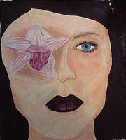 there's a flower in my eyeball by miserychic
