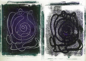 monoprint by miserychic