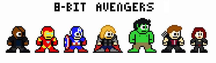 8-bit Avengers by FreakaJebus