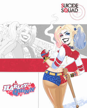 Suicide Squad Harley Batman TAS style