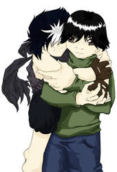 Hiei and Yusuke Cuddle: Full by im-with-no-name
