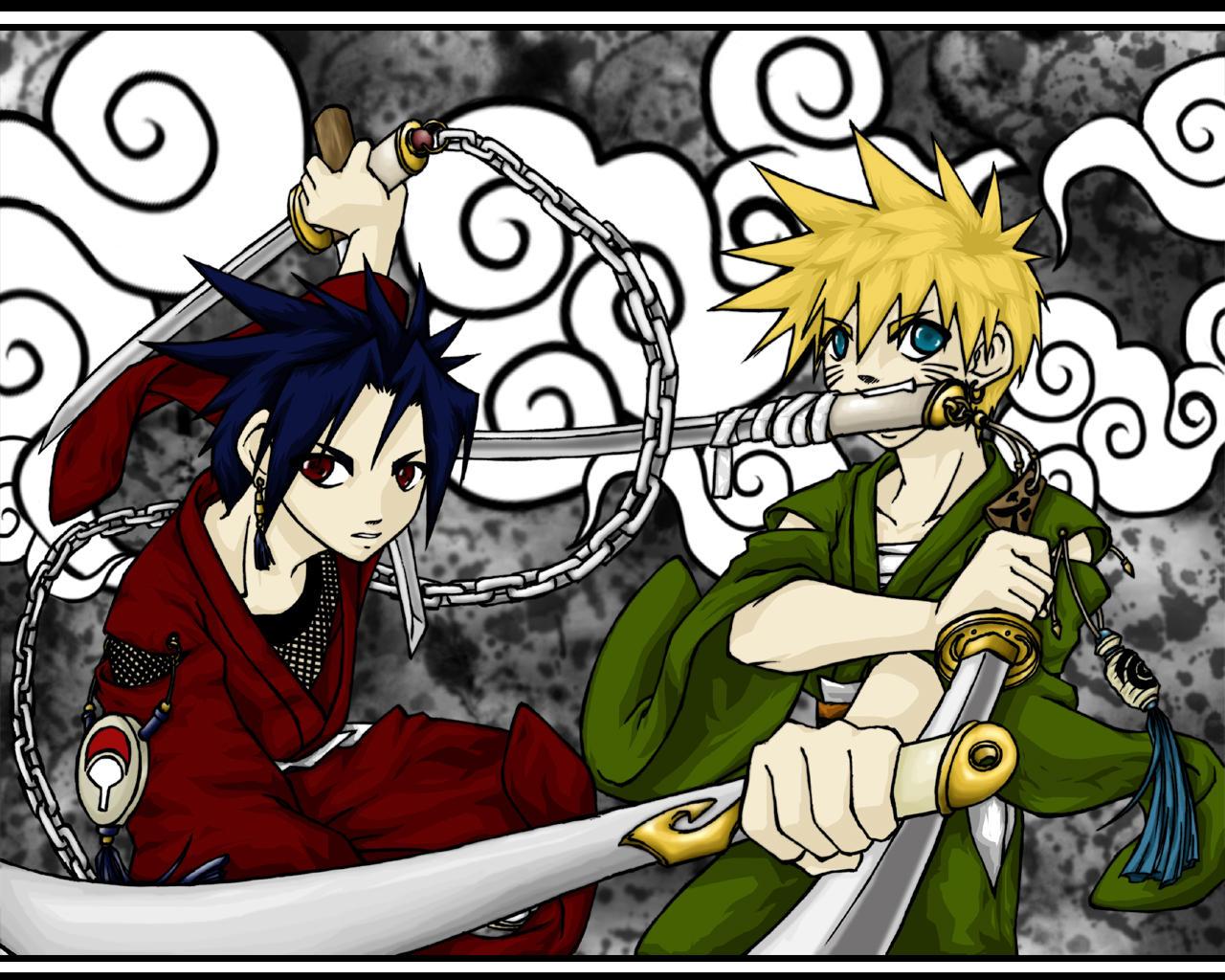 Wonderful Wallpaper Naruto Deviantart - naruto_and_sasuke_wallpaper_by_im_with_no_name  Graphic_265344.jpg