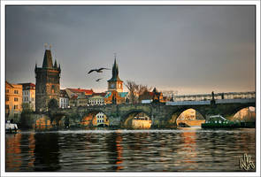 Sundown on Charles Bridge by ieatSTARS