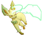 Leafeon Used Leaf Blade! by XRed-moon