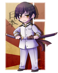 [Present] .:Chibi Japan:. by XRed-moon