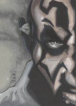 Darth Maul sketch card