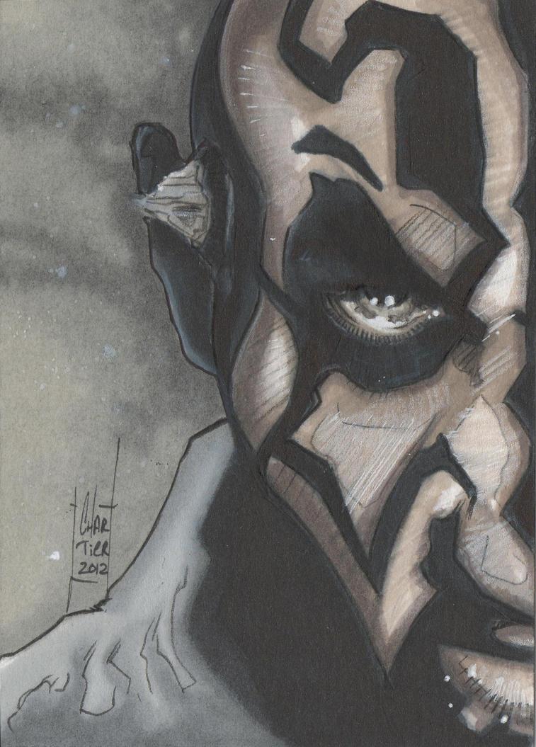 Darth Maul sketch card by idirt on DeviantArt