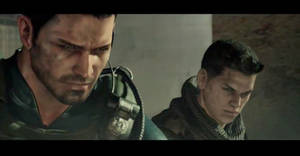 Chris Redfield and Piers Nivens RE6