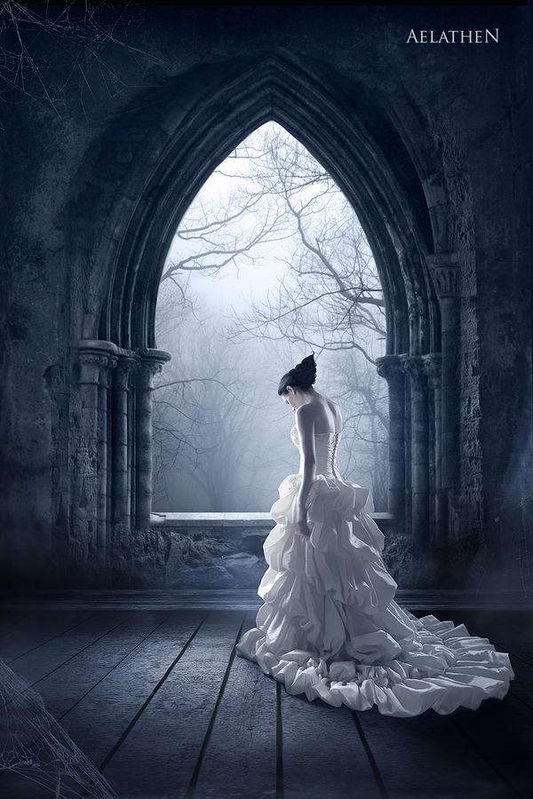 Gothic vampire wedding