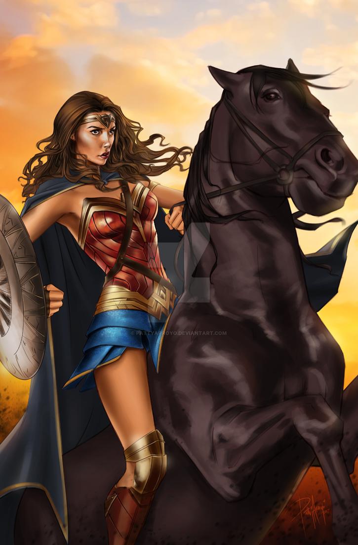 Wonder Woman Gal Gadot by Patty Arroyo Art by pattyarroyo