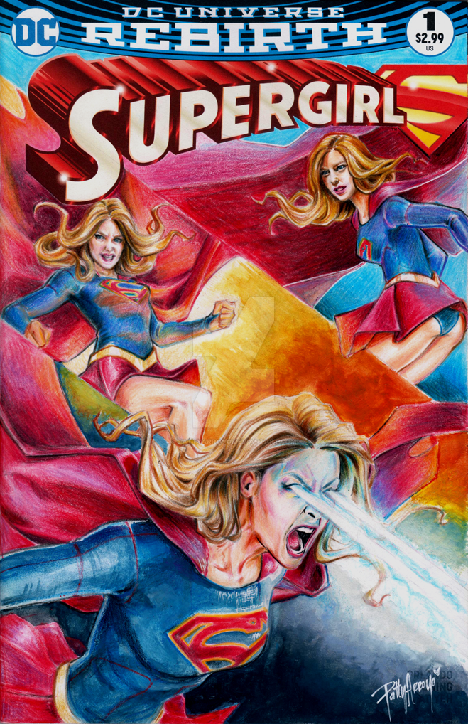 Supergirl on Blank Cover by Patty Arroyo Art by pattyarroyo