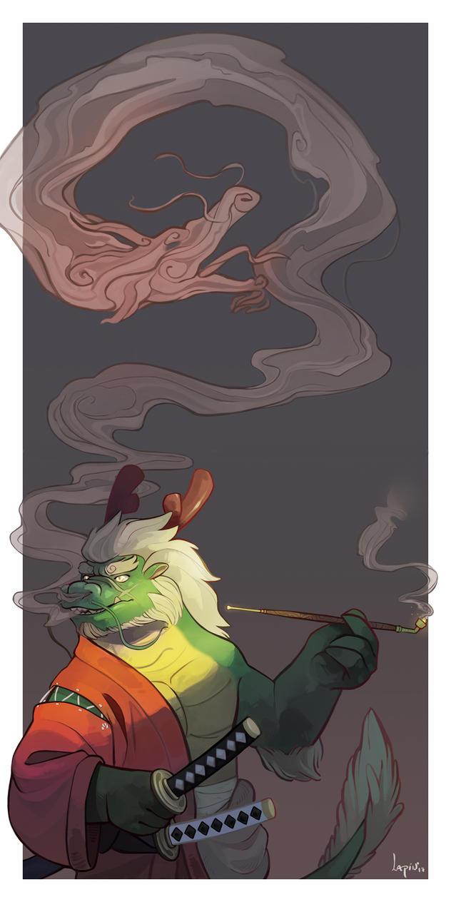Dragon Samurai by AtaroLapin