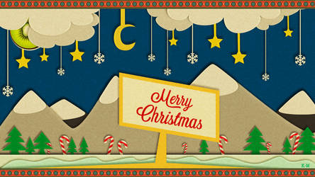 Merry Christmas Wallpaper by Kiwi-Mystere
