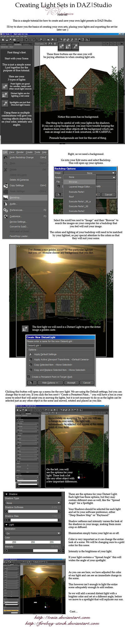 Creating Lights in DAZ, Pt.1 by firebug-stock