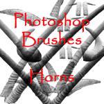 Photoshop Horn brushes - set 1