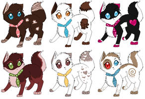 Adoptable Cats 1 by Jingle2626