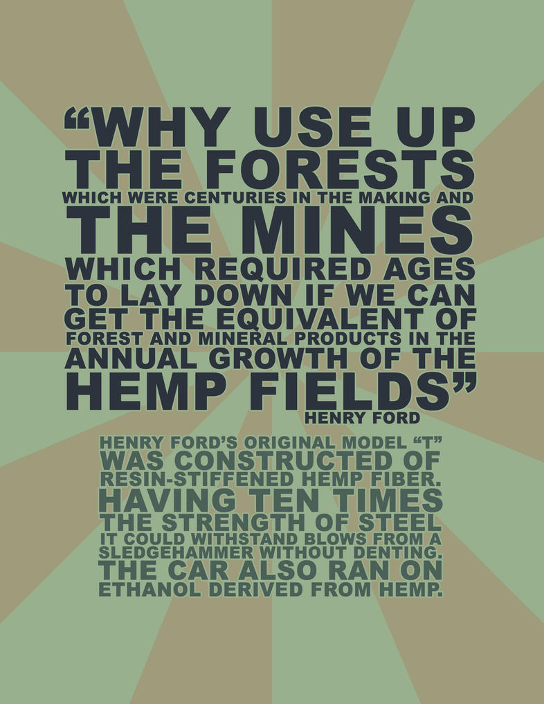Ford Hemp Poster by eternalrabbit