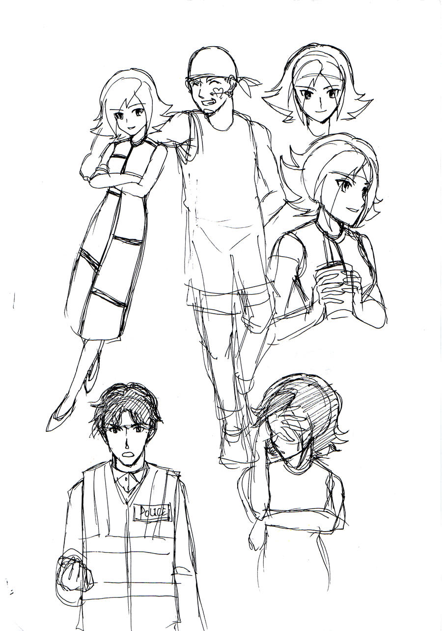 Random Drawings Of Characters 05 By Ayawolfmon On Deviantart