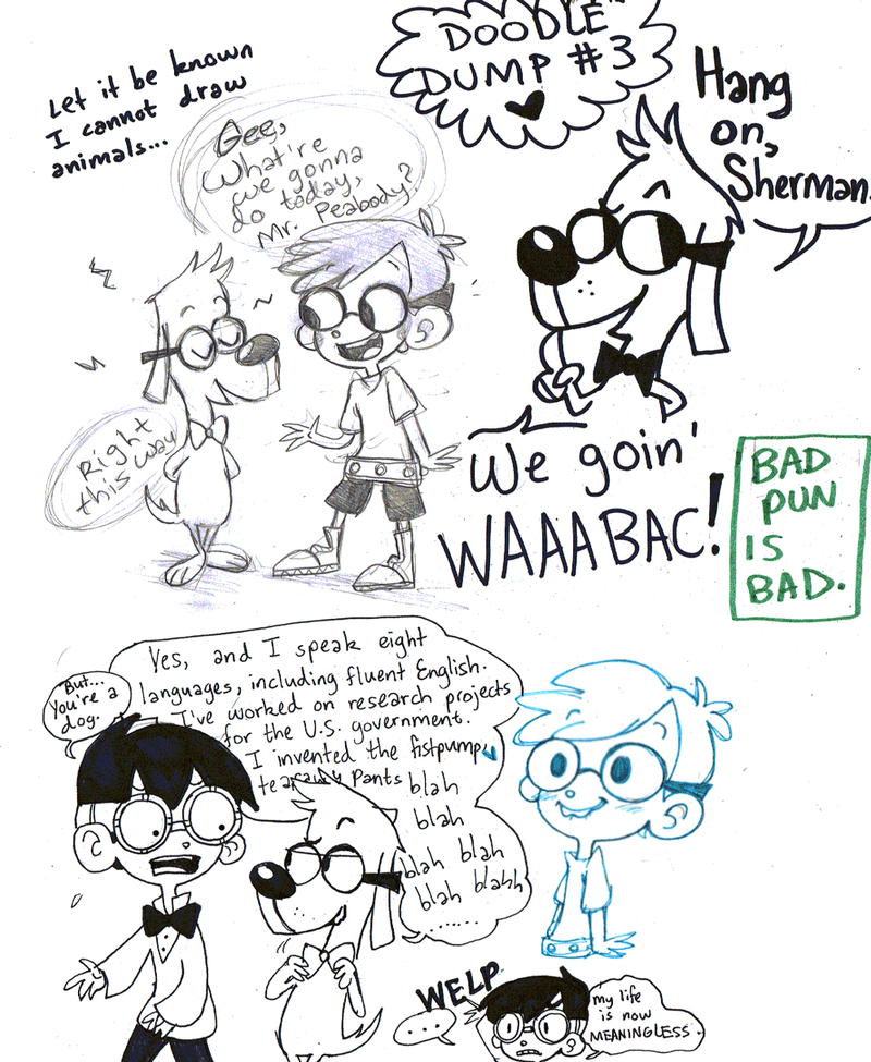 Misfit/Peabody Doodle Dump by MissBrillig